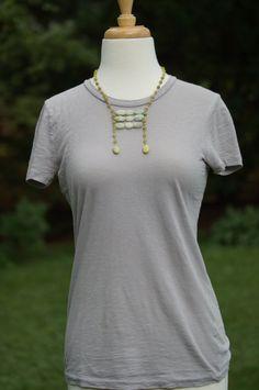 jade necklace  olive jade stone beaded necklace by RedSunStudios,