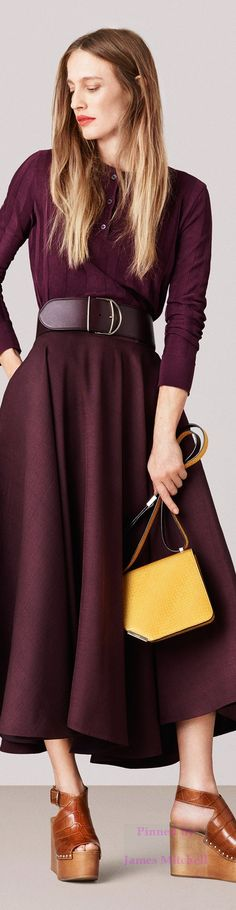 """Bally Spring 2015 Ready-to-Wear... I LOVE this dress!  It is so """"me""""!"""