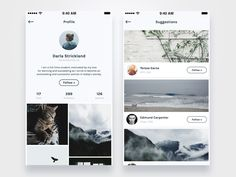 Here is some screens for our upcoming project, - social network for photographers.