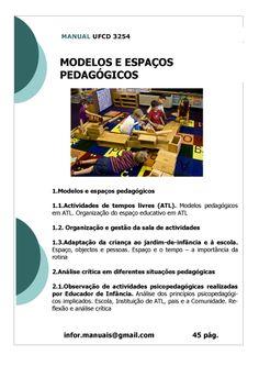 Ufcd 3280 espa os materiais e equipamentos creche e jardins de inf ncia t cnico de a o - Tecnico jardin de infancia ...