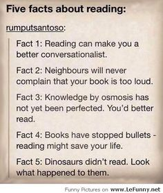 Funny five facts about reading