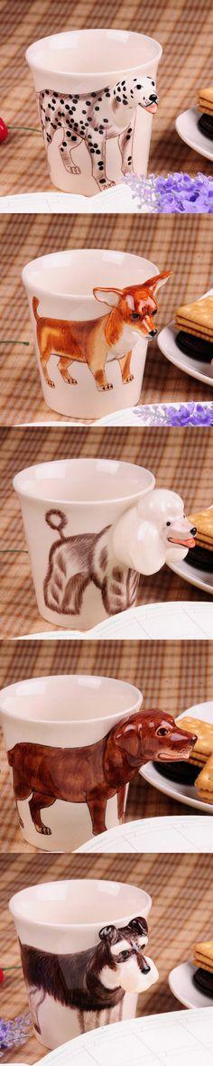 Handmade cute coffee milk mug animal dalmatian pet dogs 3d Funny Birthday Gift Gift for Her Holiday Gift Christmas Gift