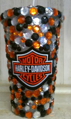 Harley Davidson Insulated Acrylic Tumbler by Occasionz on Etsy, $31.95