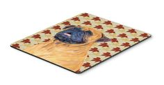 Mastiff Fall Leaves Portrait Mouse Pad, Hot Pad or Trivet