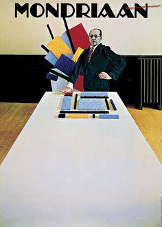 Gert Dumbar - Mondriaan , exhibition poster, 1971.
