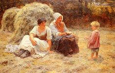 Frederick Morgan Paintings-Midday Rest, 1879