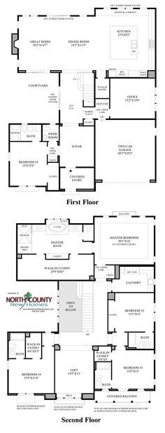 New homes in Carlsbad at Robertson Ranch. Floor Plans at The Terraces