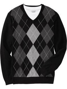 Old Navy | Men's V-Neck Argyle Sweaters