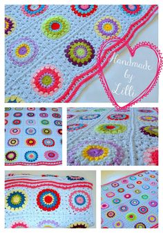 Sunburst Granny Blanket - Handmade by Lilli  I could use the sunburst pattern and make a curtain instead! o.o