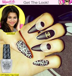 Manicure Monday: Zendaya's Matte Black Chanel Nails