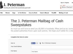 J. Peterman Mailbag of Cash Sweepstakes