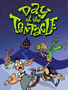 "Day of the Tentacle: I have fond memories of playing LucasArts' point and click adventure. The dialogue in parts was hilarious and it wasn't an easy game to complete. It also included the prequel game, Maniac Mansion, as an ""Easter Egg"". Computer Video Games, Gaming Computer, Games Box, Old Games, Cartoon Network, Day Of The Tentacle, Lucas Arts, Nintendo, Anos 80"