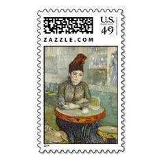 Agostina Segatori in Cafe du Tambourin by Van Gogh Stamps
