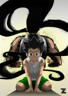Dark Revenge. #Gon_Freecs #HunterxHunter2011 fanart. HQ : http://zat3am.deviantart.com/art/Dark-Revenge-433970916?q=gallery%3AZat3am%2F25857710&qo=3