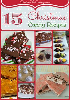 Easy Recipes for DIY Christmas Candy and Christmas Food Gifts for Friends! Holiday Candy, Christmas Candy, Holiday Treats, Holiday Recipes, Christmas Recipes, Christmas Ideas, Holiday Desserts, Xmas, Christmas Gifts
