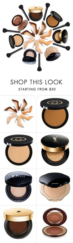 """Strong Foundation"" by cherieaustin on Polyvore featuring beauty, Christian Louboutin, Gucci, Yves Saint Laurent, Christian Dior, Shiseido, Lancôme, Charlotte Tilbury and NARS Cosmetics"
