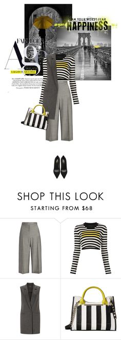 """""""A little bit of yellow"""" by noconfessions ❤ liked on Polyvore featuring Nicole Farhi, Marc Jacobs, Miss Selfridge, Steve Madden and Yves Saint Laurent"""
