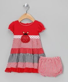 Take a look at this Red Gingham Dress & Diaper Cover - Infant, Toddler & Girls by Youngland on #zulily today!