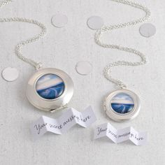 Personalised Wanderlust locket necklace