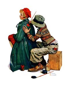"""""""Young Artist"""" or """"She's My Baby"""", June 4,1927  Norman Rockwell"""
