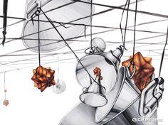 허쌤의 미대입시 정보 모음 :: 기초디자인? 사고의전환? 발상과표현? 공간을 디자인하라 Academic Art, Surrealism, Design Art, Fine Art, Drawings, Artwork, Inspiration, Color, University