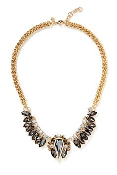 Rebecca Minkoff Clustered Stones Statement Necklace