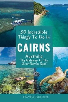 30 Things to do in Cairns. From snorkelling or diving the reef to soaring above the tropical rainforest there are so many things to do in Cairns to tick off your bucket list. #cairns #queensland #australia #greatbarrierreef