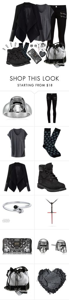 """""""Kylo Ren"""" by avellines ❤ liked on Polyvore featuring Episode, Paige Denim, Cufflinks, Inc., Relaxfeel, Timberland, Old Navy, Loungefly, Carianne Moore, starwars and theforceawakens"""
