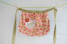 Reversible Girls Apron with Vintage Embroidery. $18.00, via Etsy.