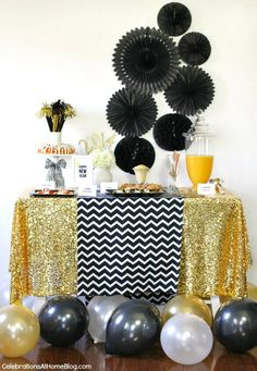 Ideas and recipes to host a new years eve party