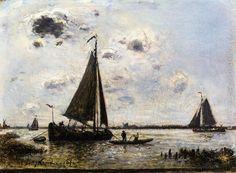 Near Dordrecht - Johan Barthold Jongkind (Dutch, 1819-1891) Impressionism