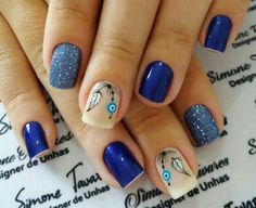 Blue Nail Art Ideas for When talking about blue, it is said to be the blush of responsibility, adherence and trust. The blush dejected exudes the ambience of actuality quiet, aloof. Gorgeous Nails, Pretty Nails, May Nails, Romantic Nails, American Nails, Popular Nail Art, Nail Time, Toe Nail Art, Blue Nails