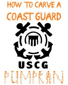 Click here to download a free printable template and carve your own Coast Guard pumpkin! - MilitaryAvenue.com
