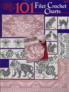 crochet book - 101 Filet Crochet Charts Álbuns da web do Picasa. With how to for filet Punto Red Crochet, Crochet Cross, Thread Crochet, Irish Crochet, Crochet Motif, Crochet Designs, Crochet Doilies, Crochet Stitches, Tatting Patterns