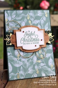 Stampin Up Eden's Garden 2021 Christmas card by Claire Daly, Stampin' Up! Demonstrator Melbourne Australia