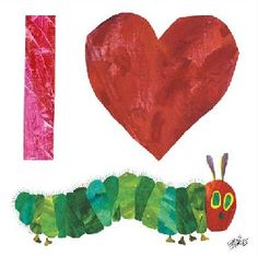Eric Carle: I Heart The Very Hungry Caterpillar Canvas Wall Art