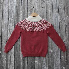 Dagens kjøpeoppskrift: Snurremegrundtgenseren | Strikkeoppskrift.com Cardigans, Sweaters, Fair Isles, Pullover, Knitting, Pattern, Blog, Kids, Fashion