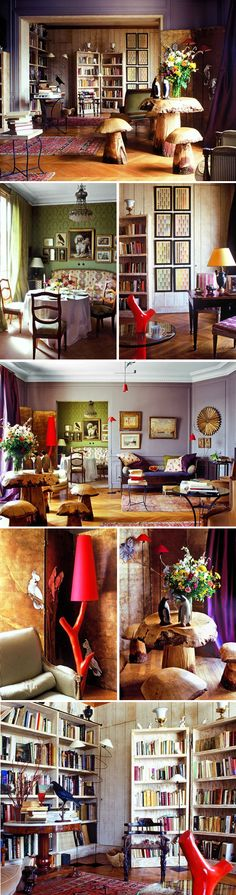 Patrice Gruffaz's Paris apartment: Mushroom stool, anyone?