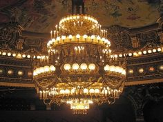 Phantom of the Opera chandelier in the Paris Garnier Opera House, in France. mini version on future home ceiling? Stephen Shore, Paris Opera House, Opera Ghost, Gaston Leroux, Professor Layton, Music Of The Night, Love Never Dies, Sing To Me, Phantom Of The Opera