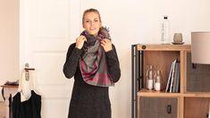 die besten 25 xxl schal binden ideen auf pinterest. Black Bedroom Furniture Sets. Home Design Ideas