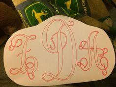 Fishing initials