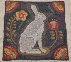 draw, garden rabbit, rug hook, hook rug, colors, star rug, rug compani, florals, traditional homes