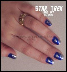 Star Trek Nail Art by FrostedGrapes