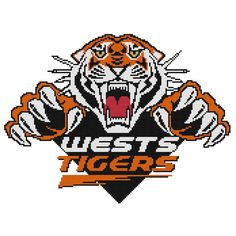 I'm selling Wests Tigers cross stitch chart - A$3.30 #onselz