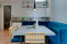 London Bespoke design kitchen - concrete topped dining table