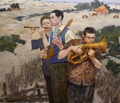 Sarazhin Denis, And the wind carries music - 130х150cm