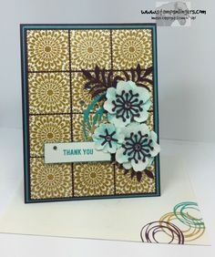 Moroccan Botanical Thanks by Stamps-n-lingers - Cards and Paper Crafts at Splitcoaststampers
