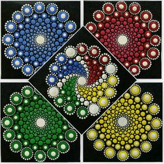 Buy Fifth Element Mandala Set - Original Acrylic on Canvas for R899.00