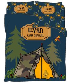 Custom Personalized Duvet- Tent-Tw-FQu-King Sizes - Color Navy Brown any accent colors