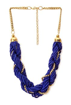 Dreamy Twisted Beaded Necklace | FOREVER21 - 1000107793